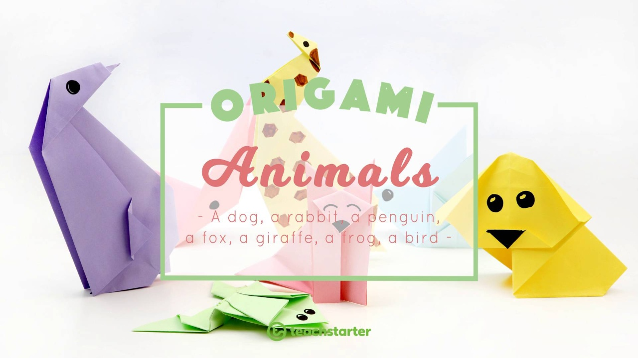 7 Cute And Easy Animal Origami For Kids Printable Instructions