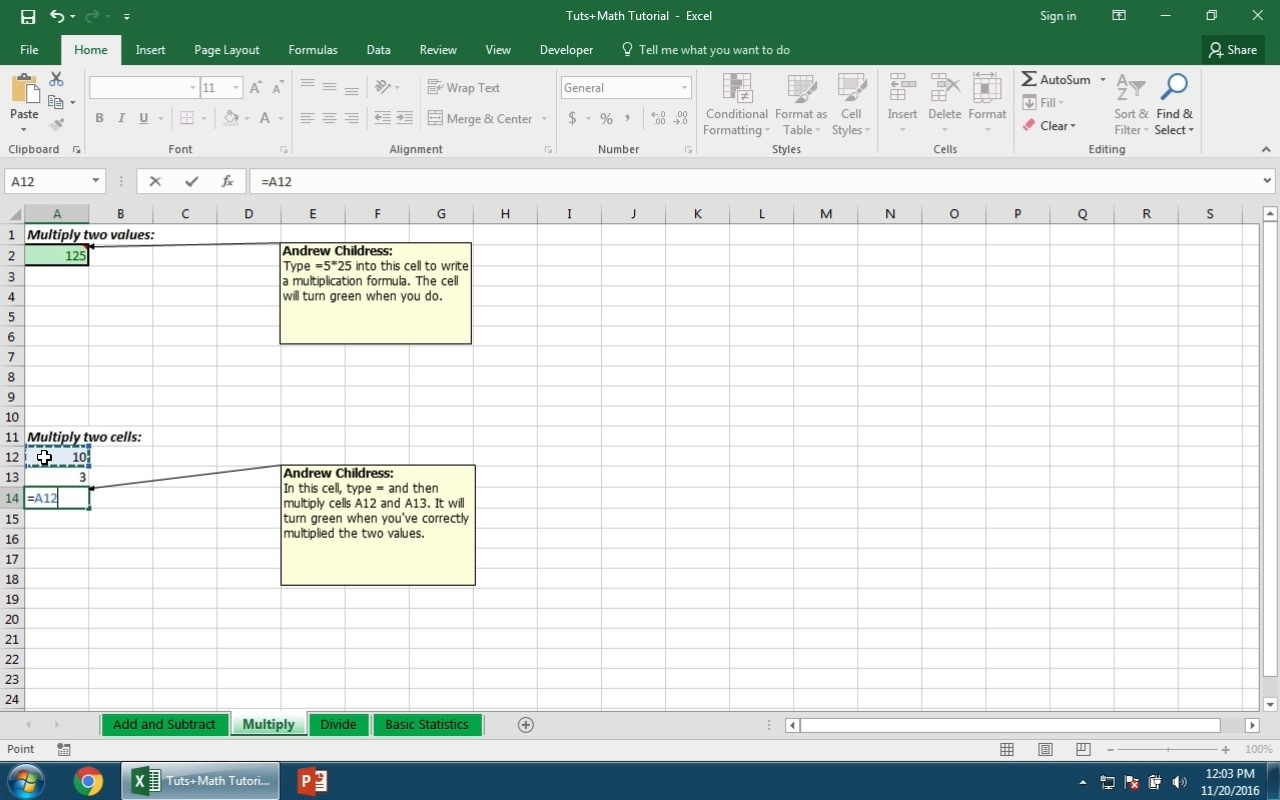 How to Work With Basic Excel Math Formulas
