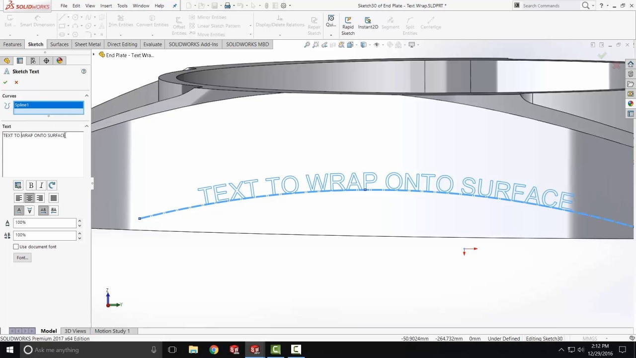[VTT] How to Emboss Text on a Surface in SOLIDWORKS