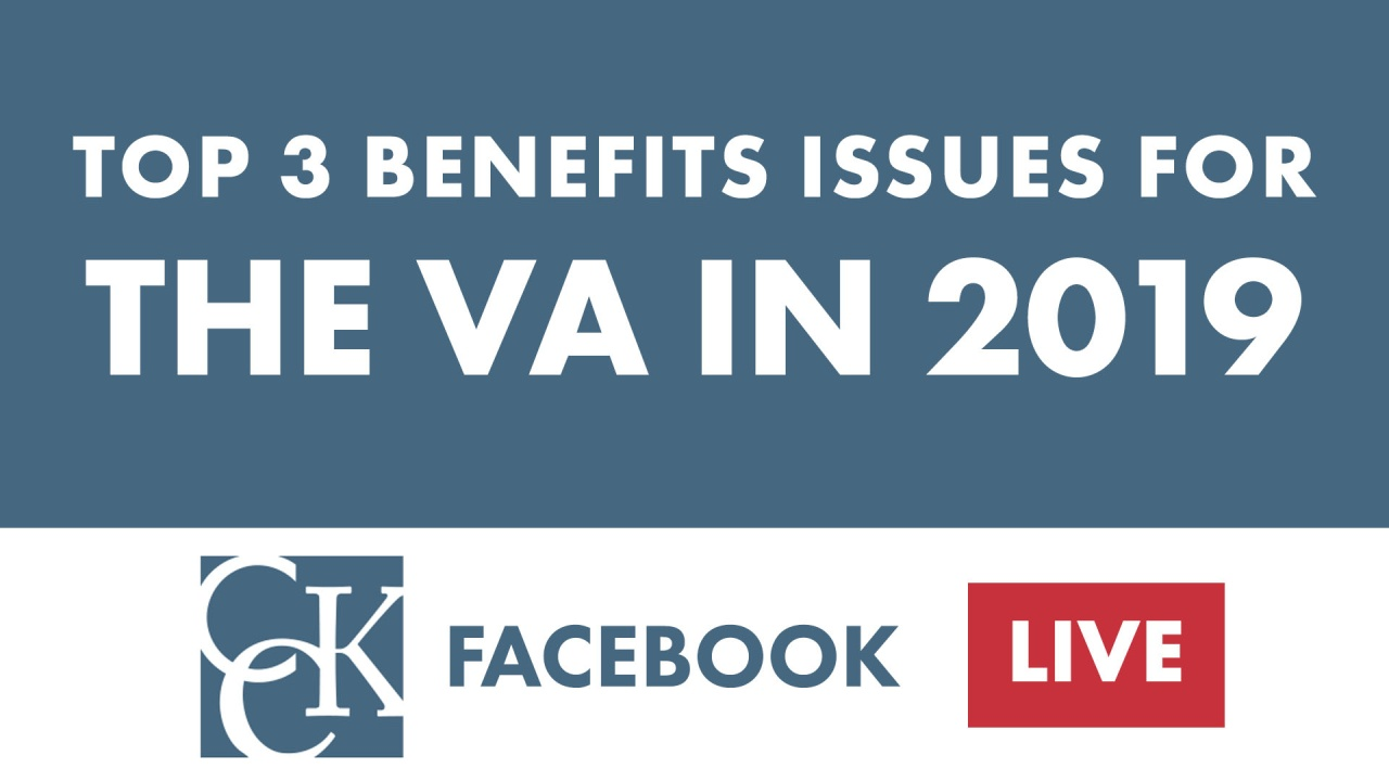 2019 Benefits Issues for the U S  Department of Veterans Affairs (VA)