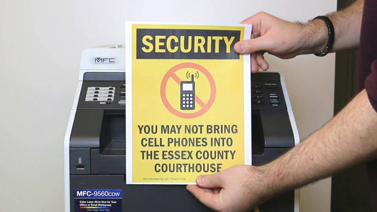 Free Security Signs