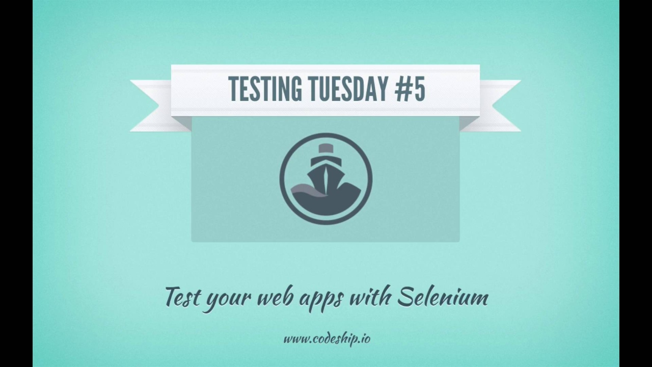 Test your web apps with Selenium