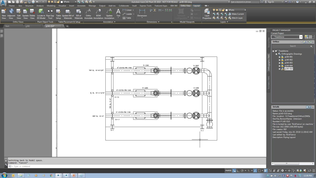 Introduction To The Autocad Plant 3d Toolset Piping Diagram Program Video Thumbnail