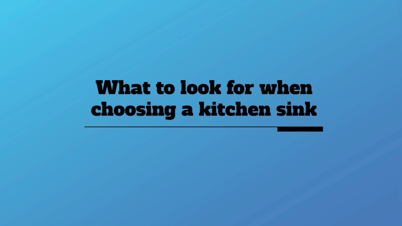 Kitchen Sinks | Ergonomic Designs