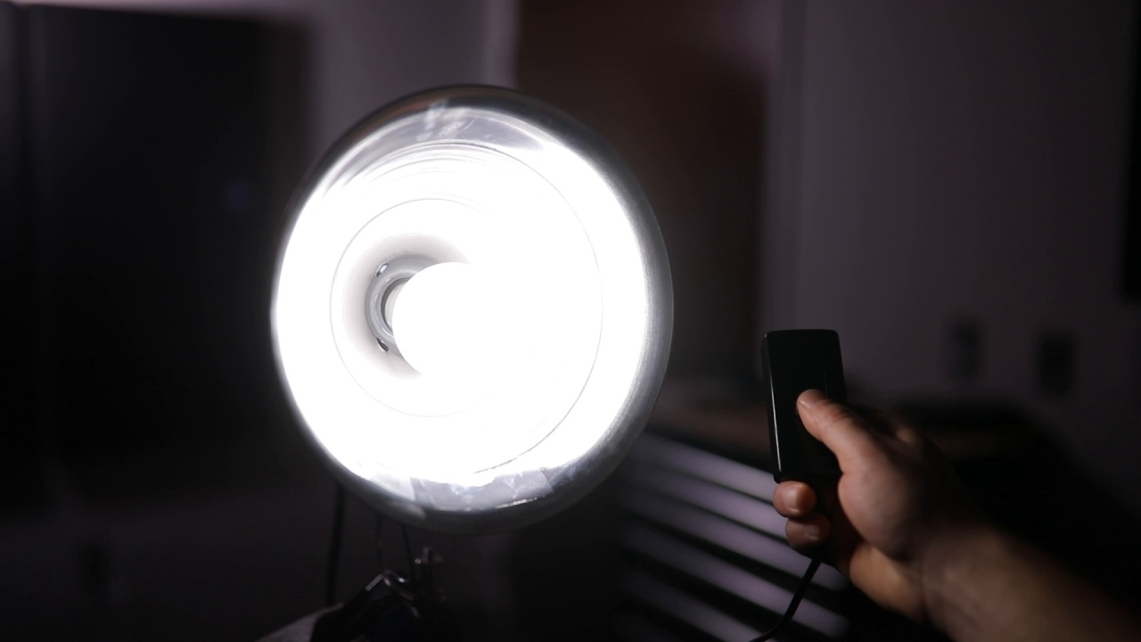 Plug the dimmer into the two lights pointing at your subject, and you can  easily adjust the amount of light hitting your talent. Just make sure your  bulbs ...