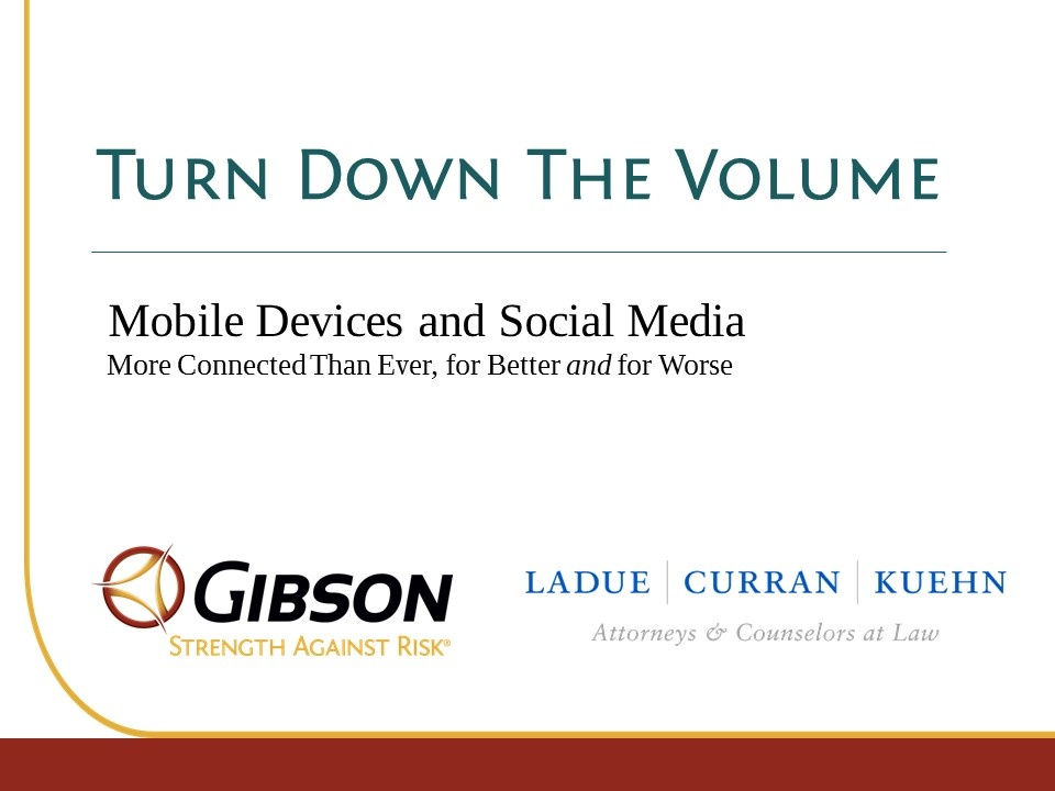 Wistia video thumbnail - Turn Down The Volume: Mobile Devices & Social Media: More Connected Than Ever, For Better & For Worse
