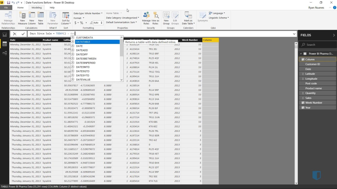 Using Date Functions | Online Power BI Training | Kubicle