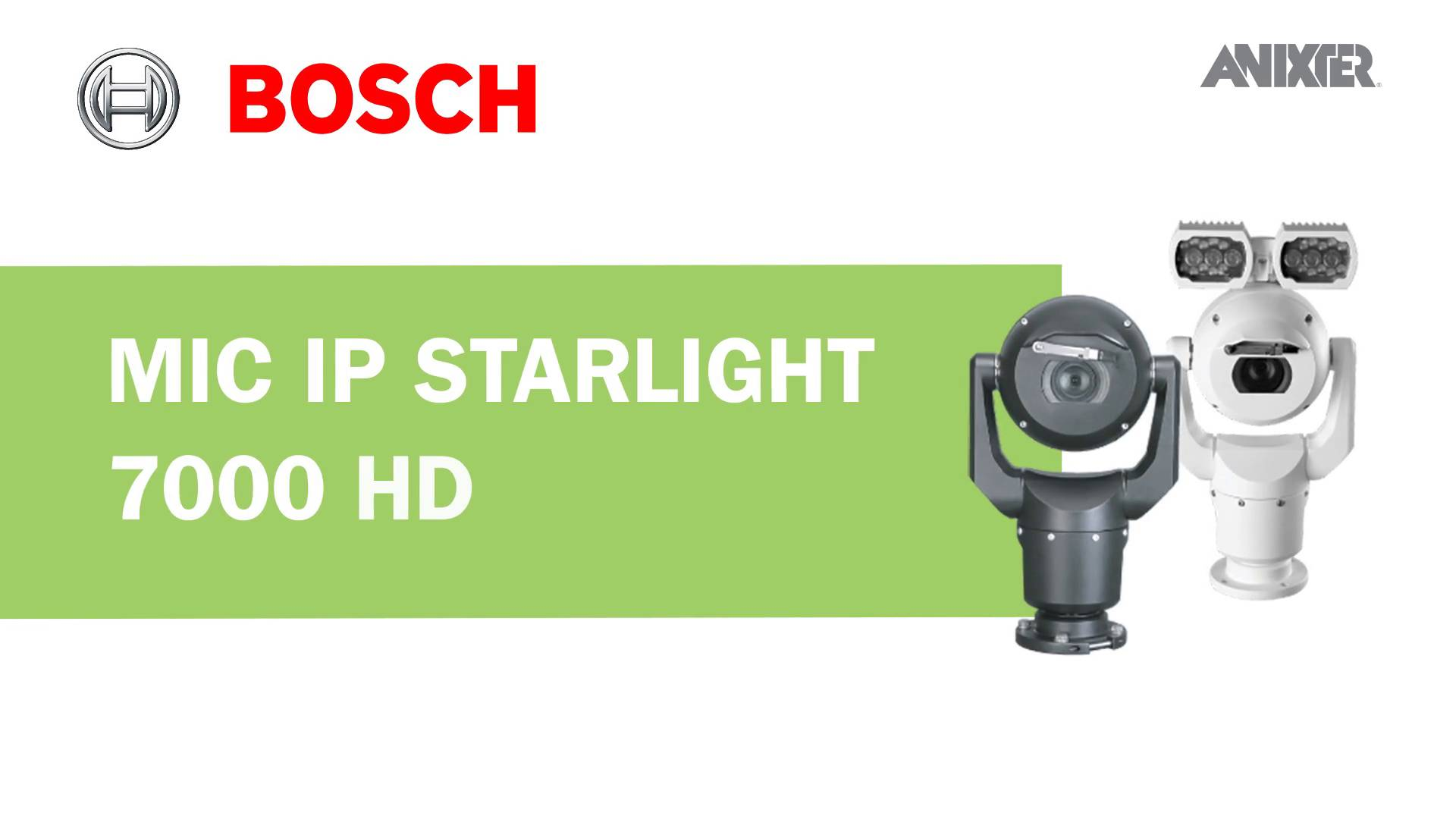 Drivers: Bosch Security MIC IP Starlight 7000 HD Camera