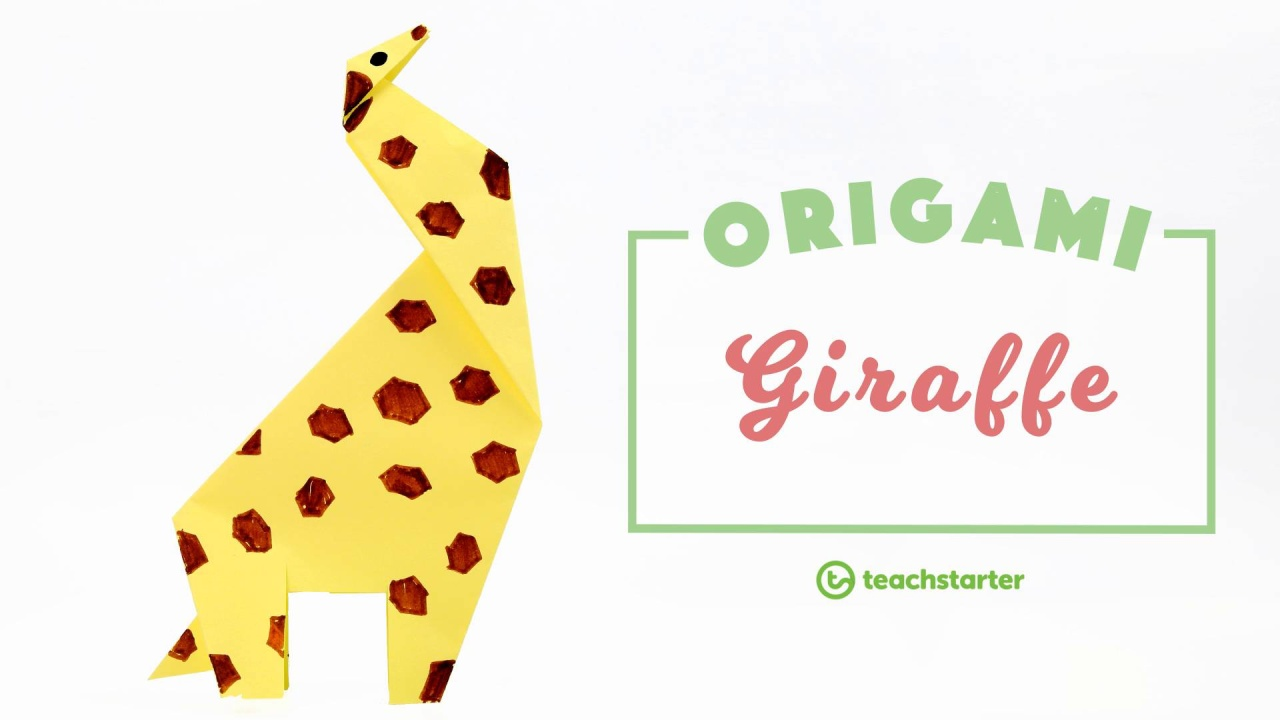 Origami Giraffe Step By Step Instructions Teaching Resource Teach