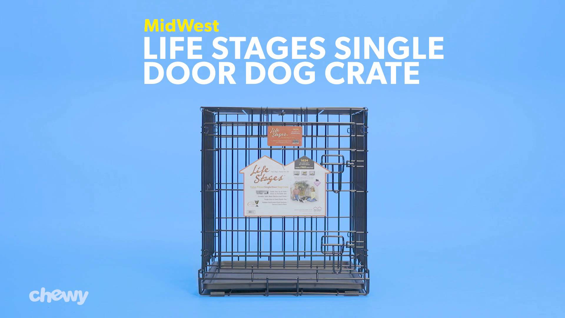 Midwest Lifestages Single Door Dog Crate 42 In Chewy