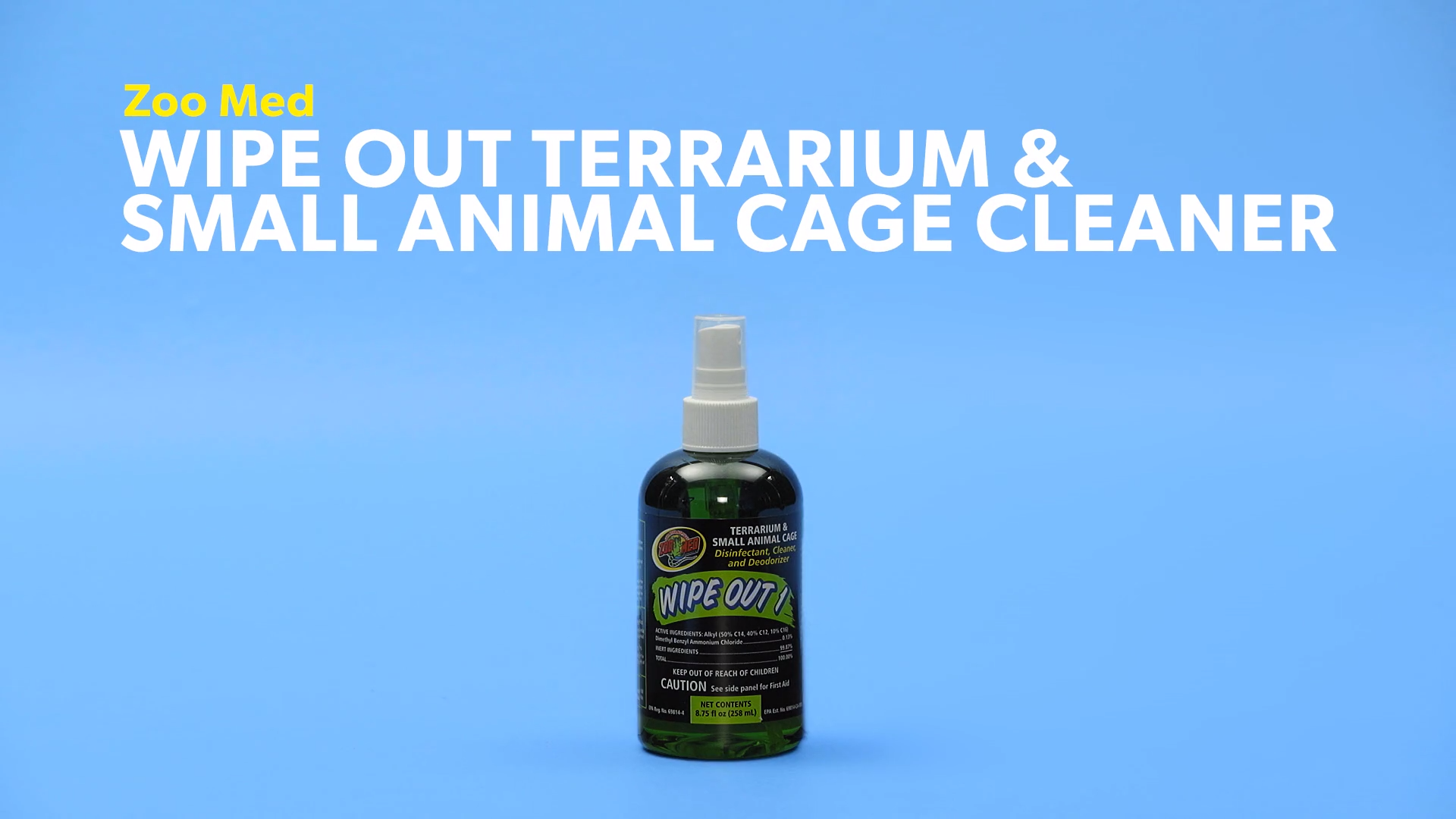 Zoo Med Wipe Out Terrarium Small Animal Cage Cleaner 8 75 Oz