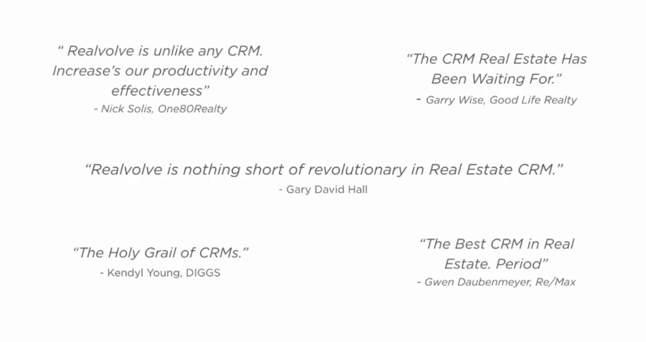 Realvolve The Real Estate Crm To Build A Business
