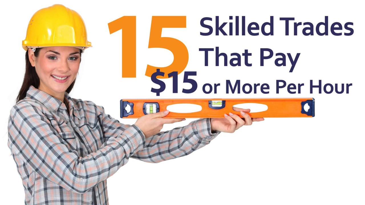 15 Skilled Trade That Pay $15 or More Per Hour