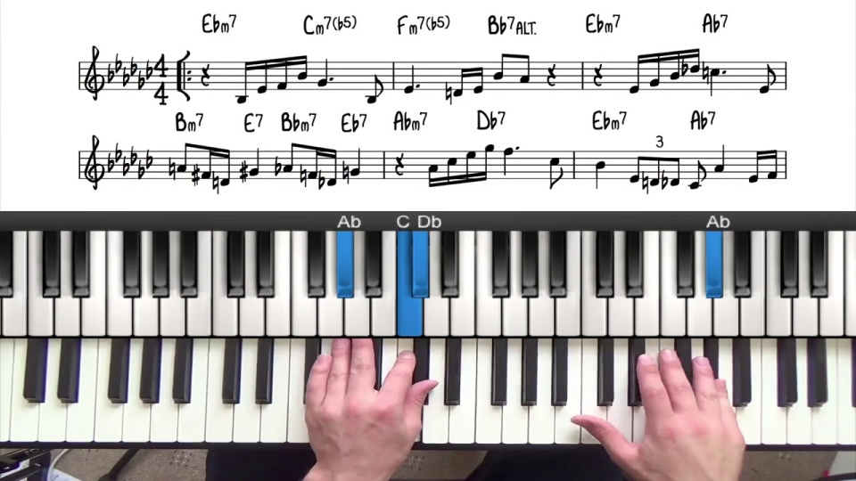 Cluster Voicings For Jazz Piano Lesson Video Tutorial