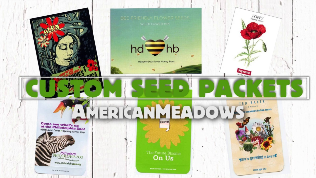 Premium Seeds Custom Seed Packets Flower Packets