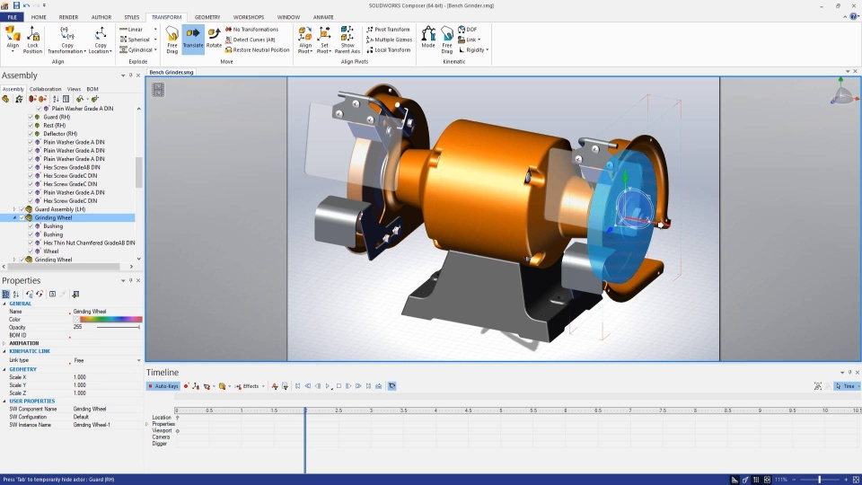 Image of Explode Animation with SOLIDWORKS Composer