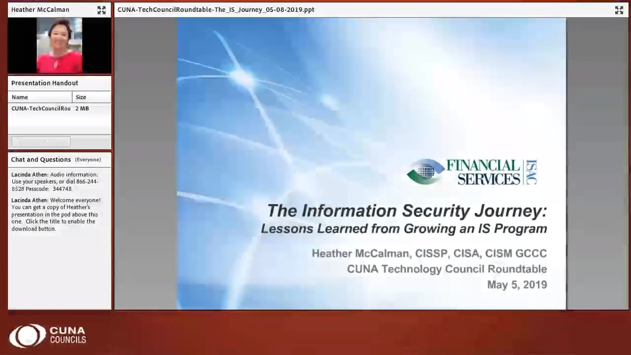 Cybersecurity: The IS Journey