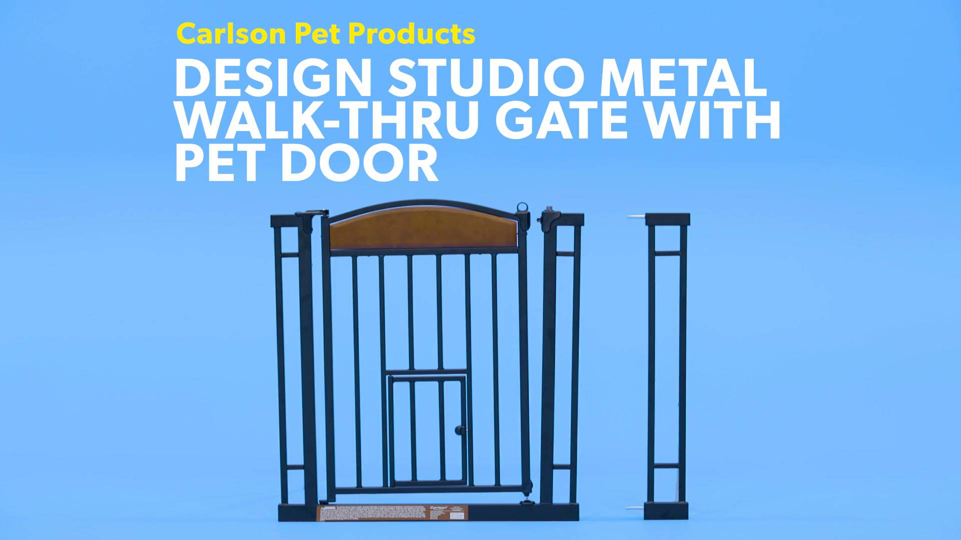 Carlson Pet Products Design Studio Metal Walk Thru Gate With Pet