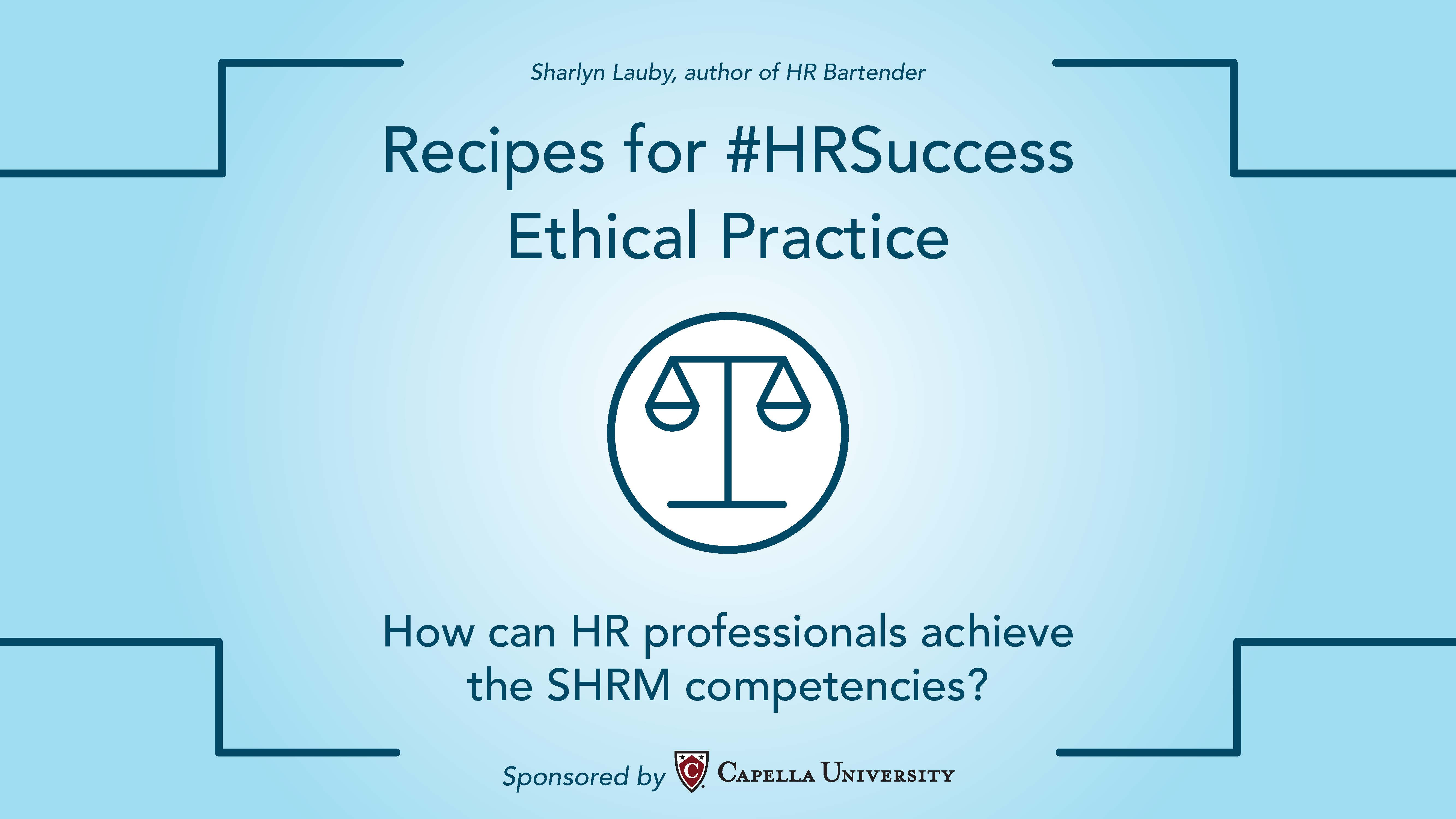 Recipes for hr success ethical practice hr bartender ccuart Choice Image