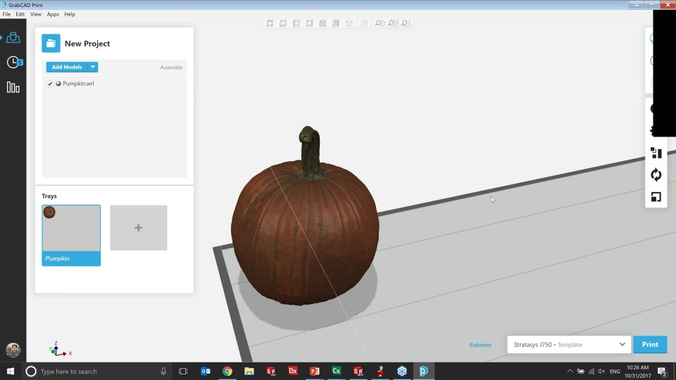 3D Scanning and Printing a Pumpkin