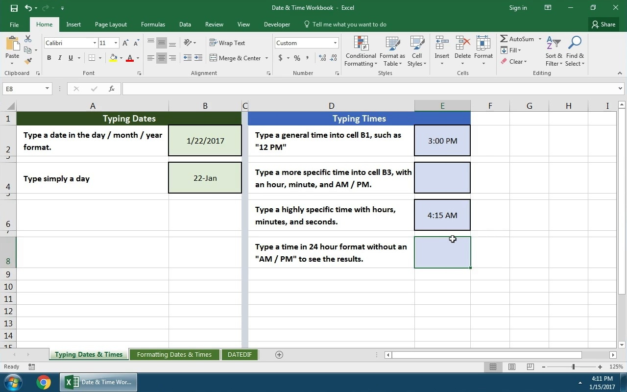 How to Work With Excel Date and Time Formulas
