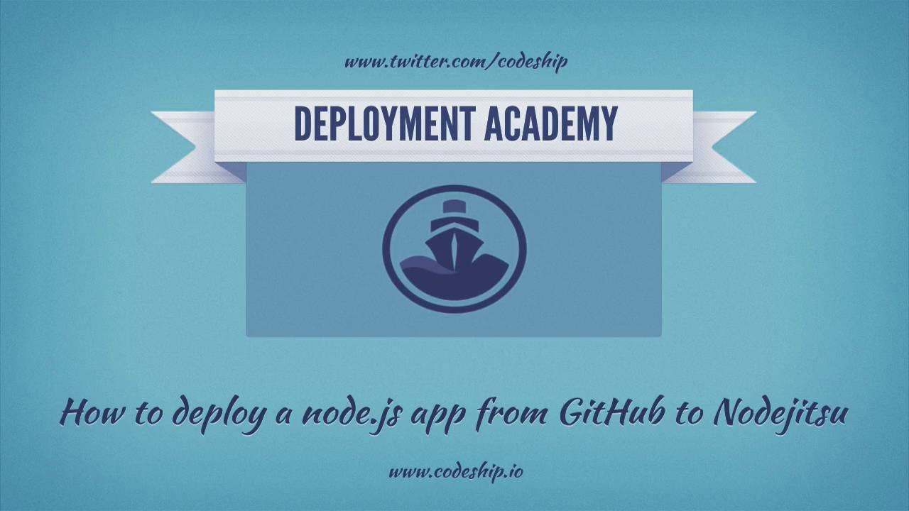 How to deploy a node js app from GitHub to Nodejitsu