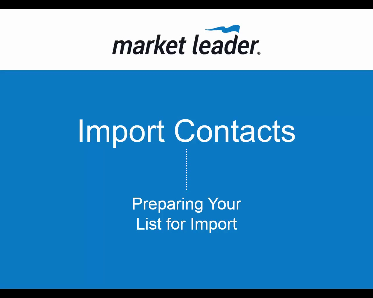 Import Contacts - Preparing Your File for Import