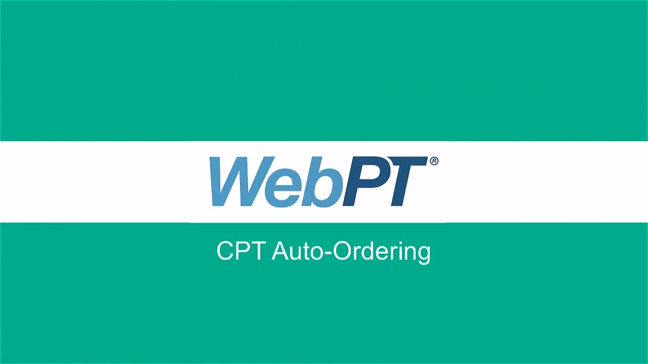 Cpt Auto Ordering With Expected Rates Therabill