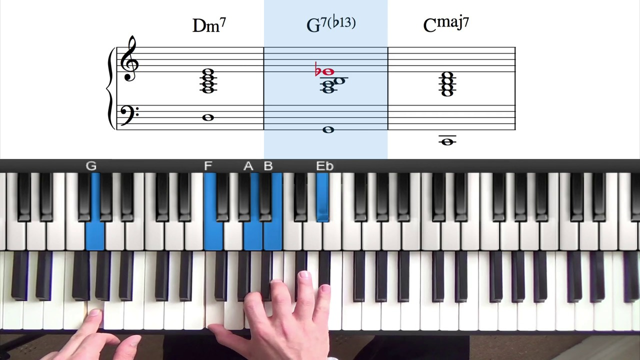 Altered jazz chords and the major 251 progression hexwebz Image collections