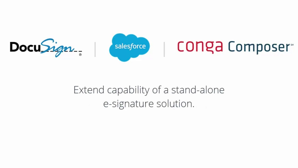 Demo of Conga Composer and DocuSign for Salesforce Integration