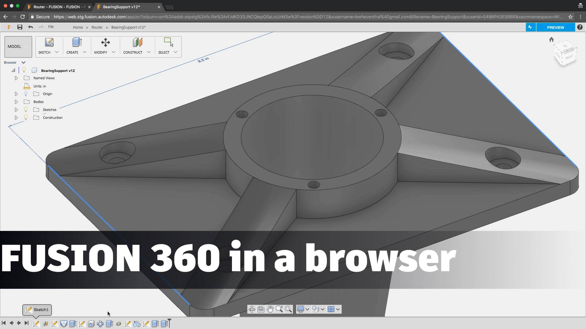 Fusion 360 in a Browser (Preview) - DESIGN DIFFERENTLY