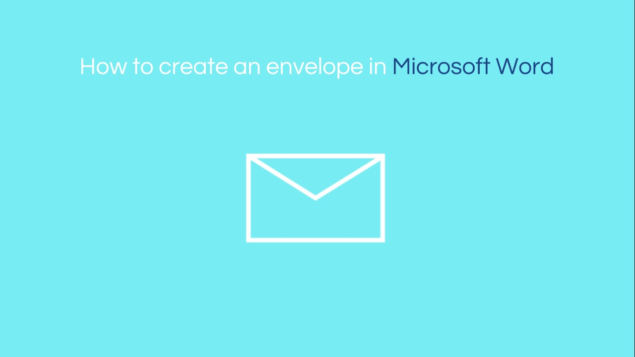 how to create an envelope in word bettercloud monitor