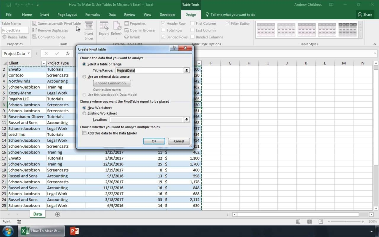 How To Make a Table in Excel Quickly