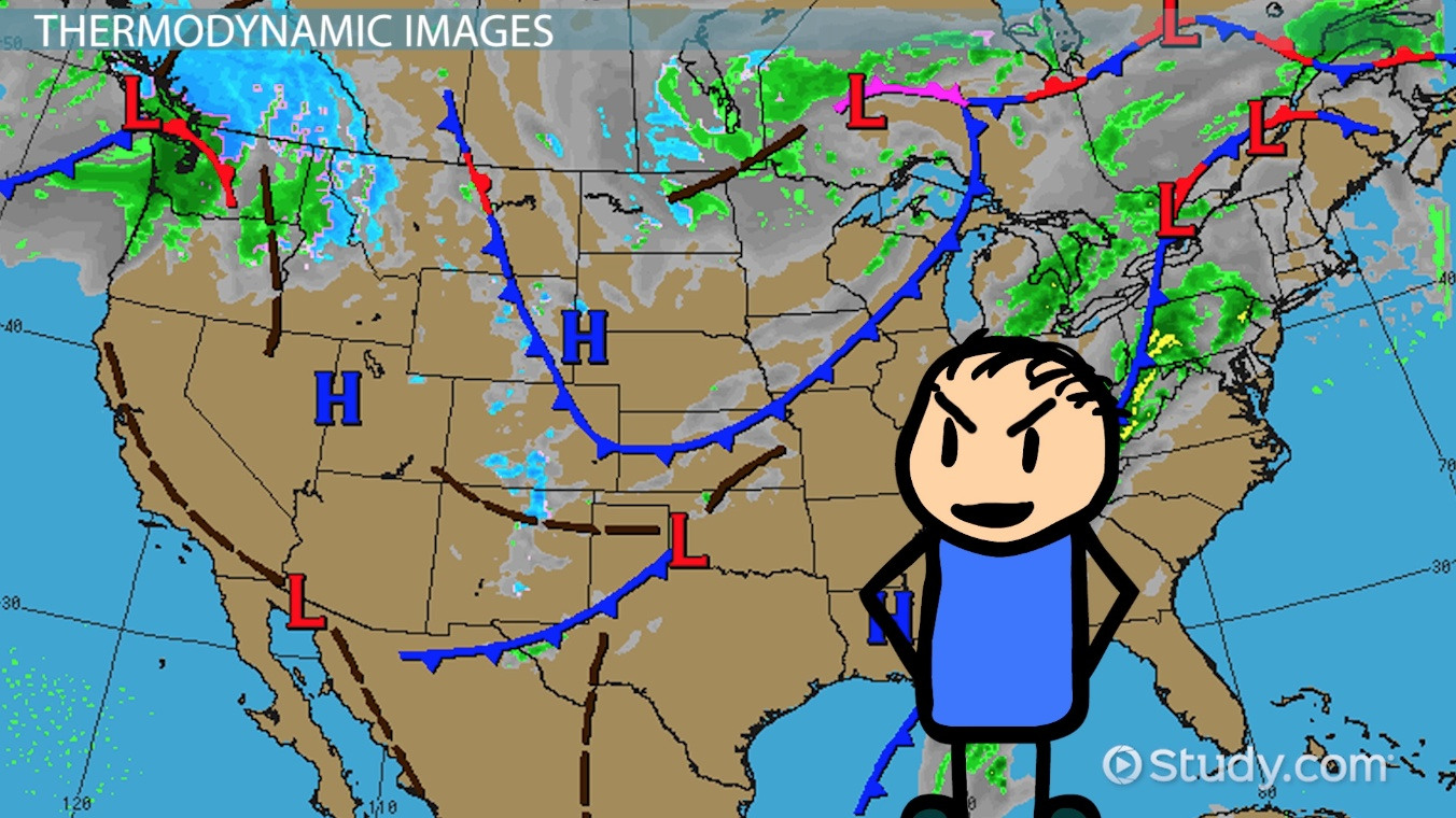 Types Of Weather Maps Images Video Lesson Transcript Studycom - Weather map for western us