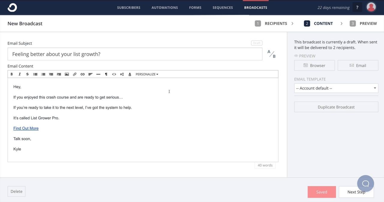 How To Create A Button In Email Convertkit Knowledge Base