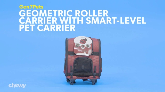 Gen7Pets Geometric Roller Carrier With Smart Level Pet