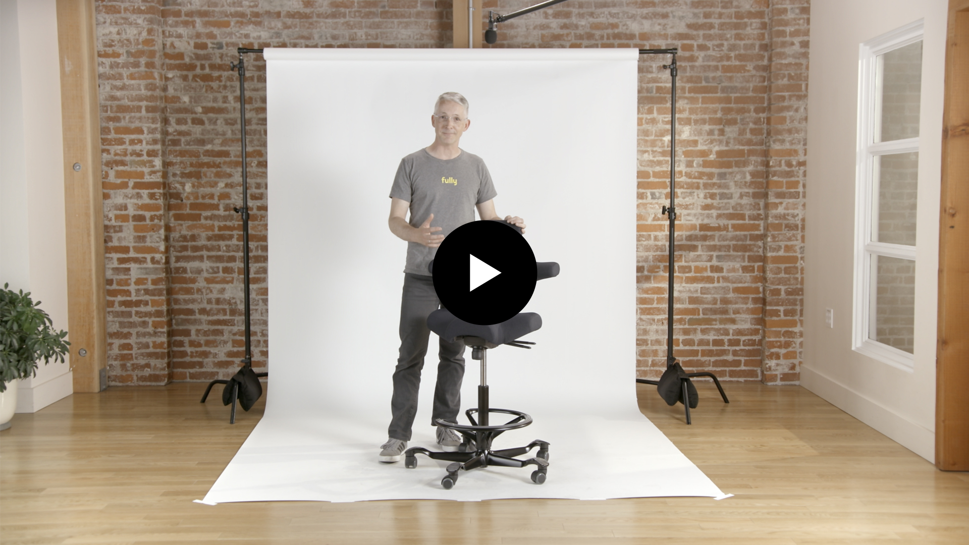 Video Thumbnail & Chairs for Standing Desks - Fully