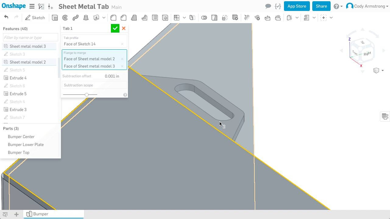 Wistia video thumbnail - What's New 1.68 Sheet Metal Tab
