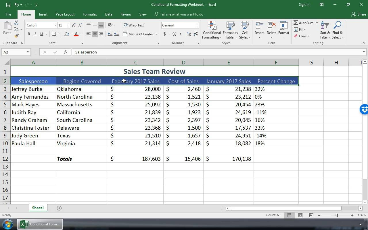 How to Format an Excel Spreadsheet