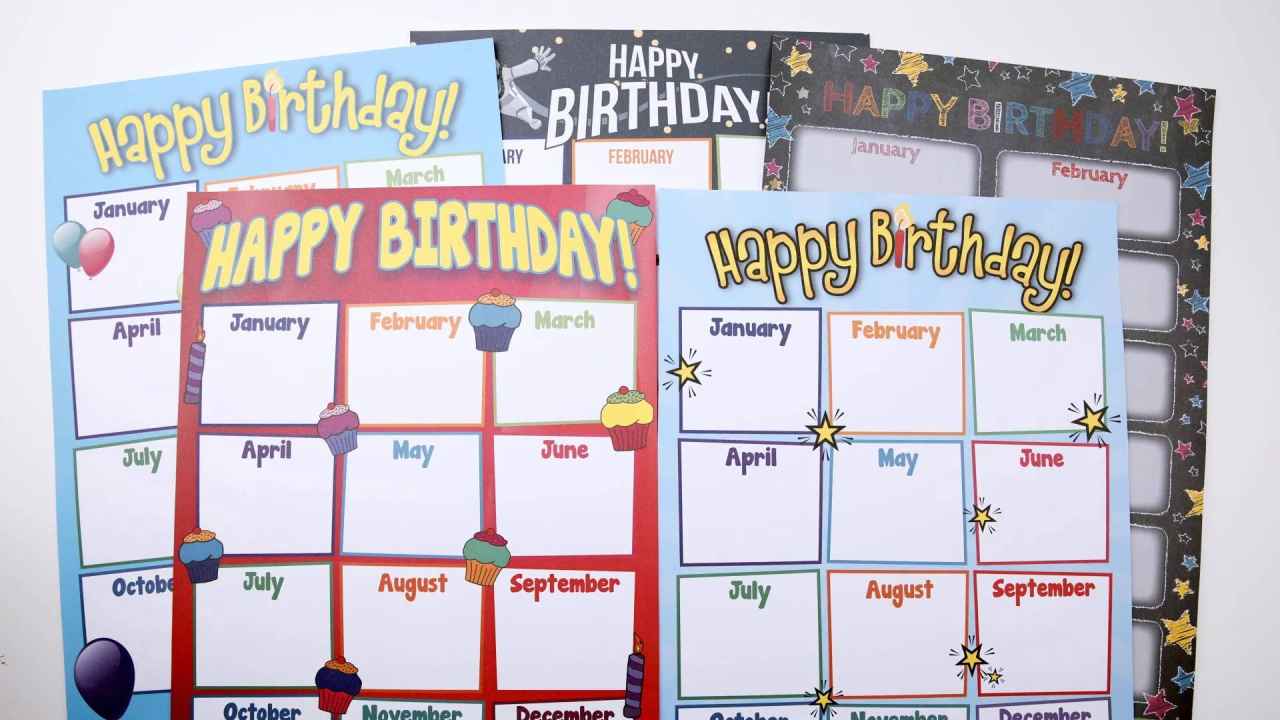 Printable Birthday Charts Video Thumbnail If You Love A Good Pop Of Colour In Your Classroom But The Idea Cutting And Laminating Series