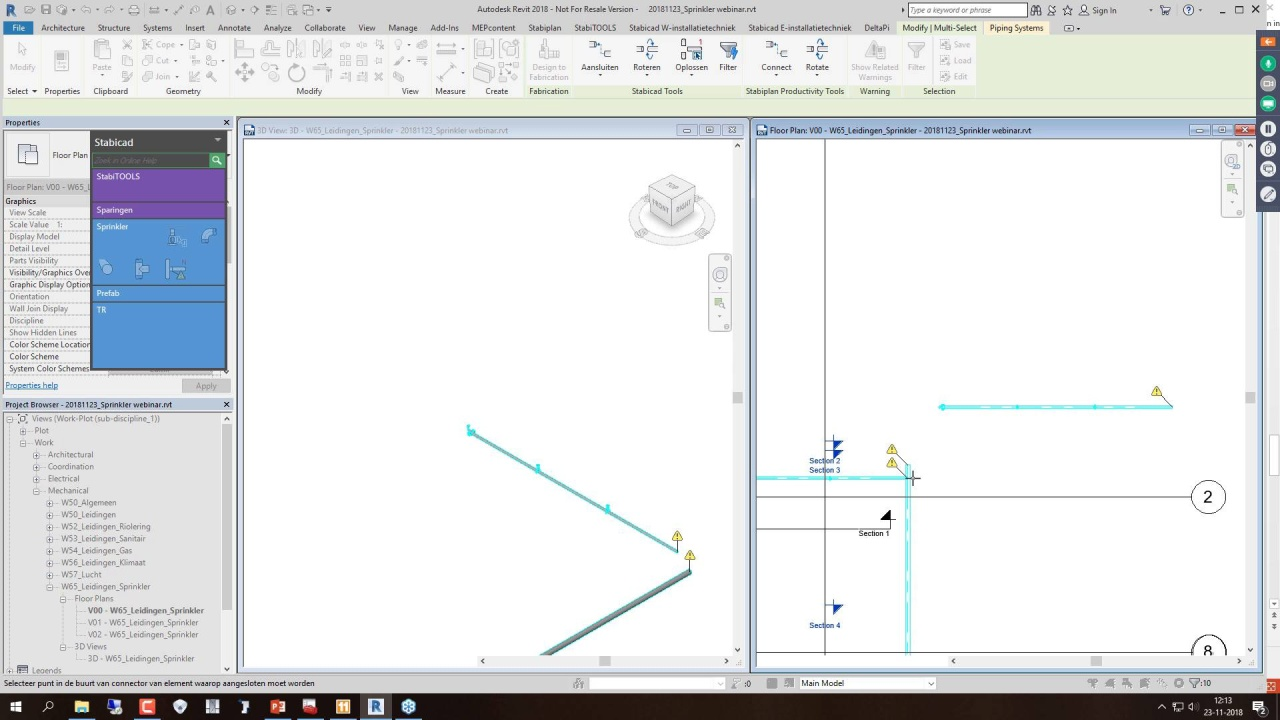 Webinar Stabicad for Revit Sprinkler