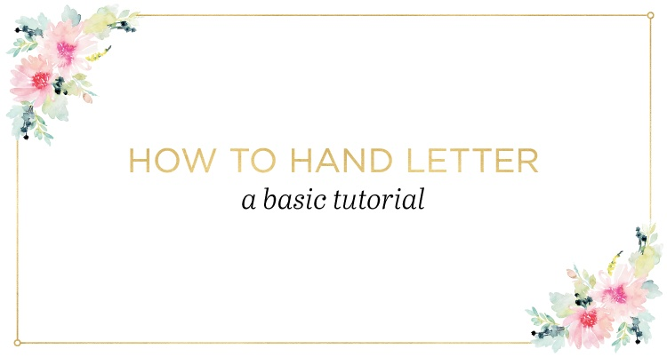 Hand Lettering Basics A Simple Tutorial