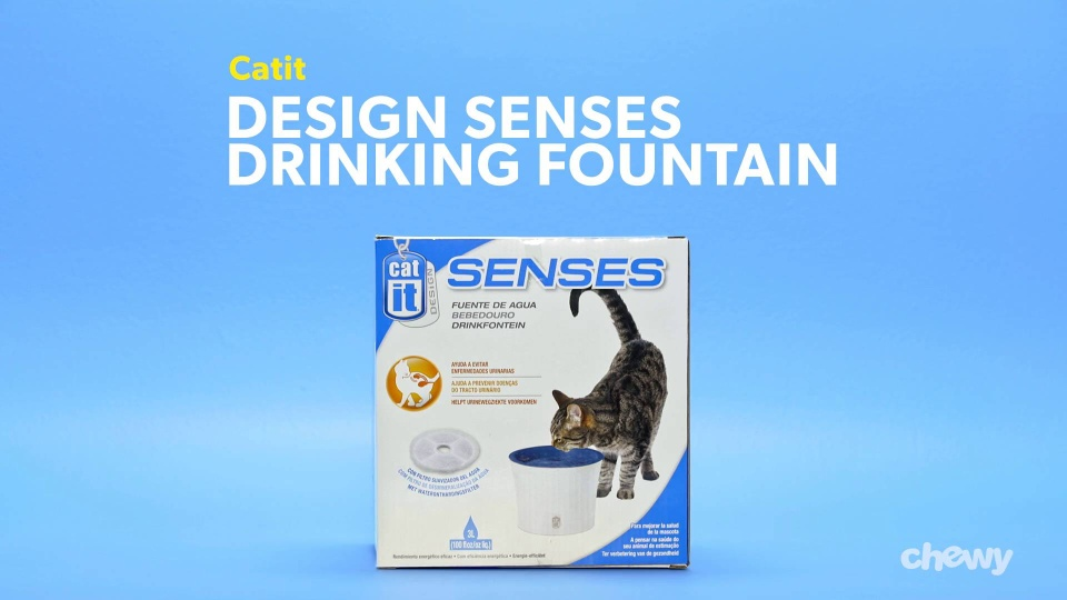 Catit Design Senses Drinking Fountain, 100-oz - Chewy com