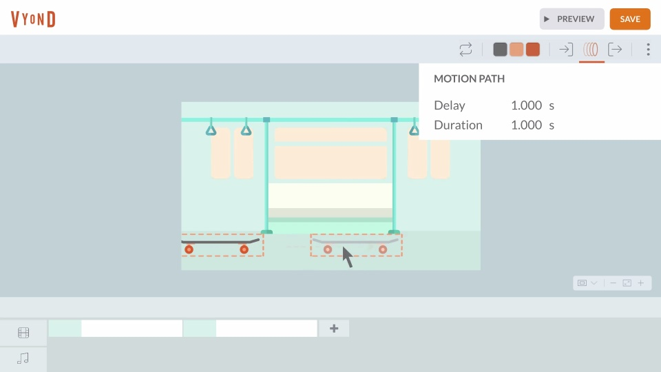 From Slides to Videos - Motion Path