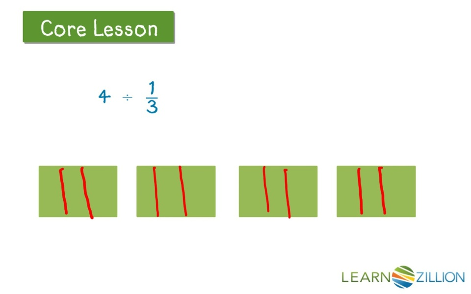 Divide whole numbers by unit fractions using a model | LearnZillion
