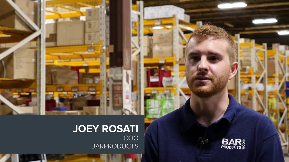 BarProducts uses RF-SMART to automate their warehouse