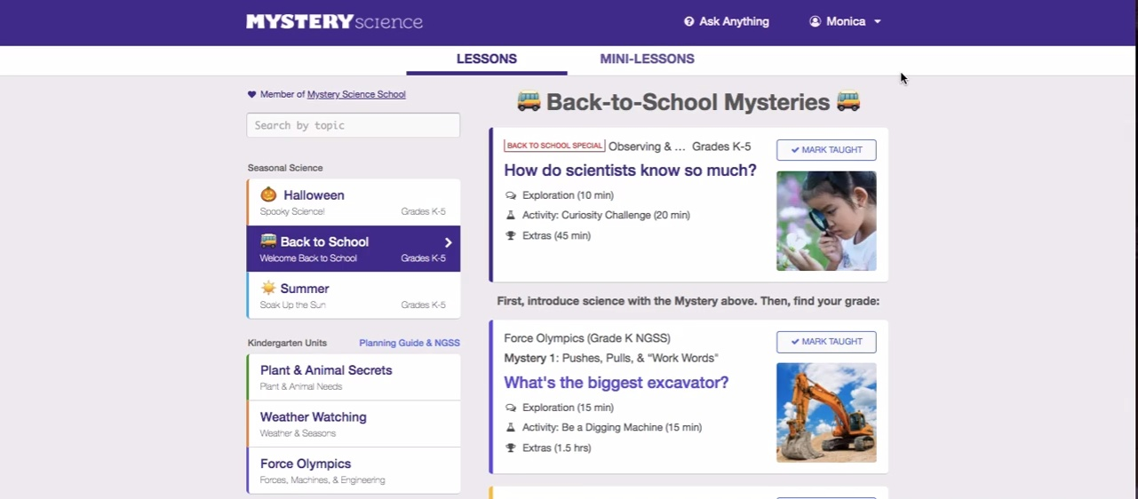 Getting Started with Mystery Science