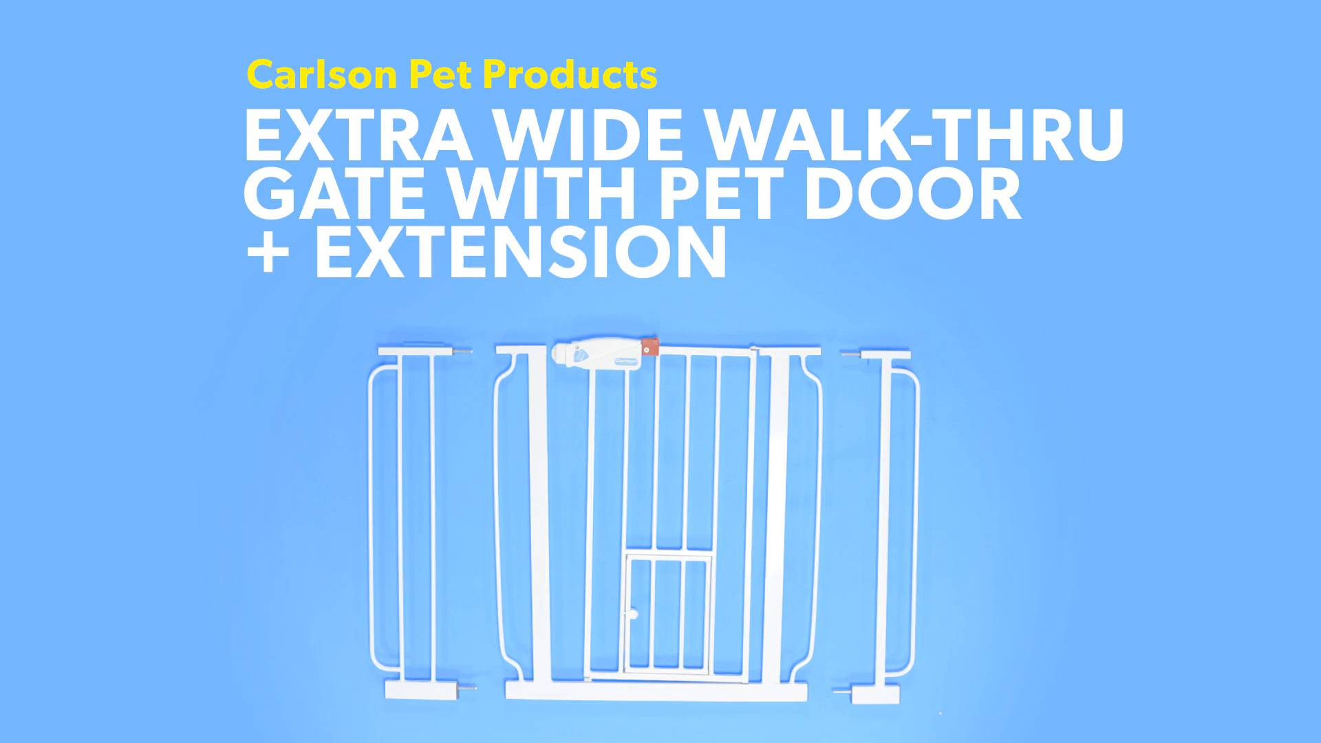 Carlson Pet Products Extra Wide Walk Thru Gate With Pet Door Chewycom