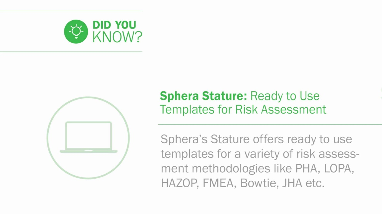 Spheras Operational Risk Solution Provides A Framework For Managing