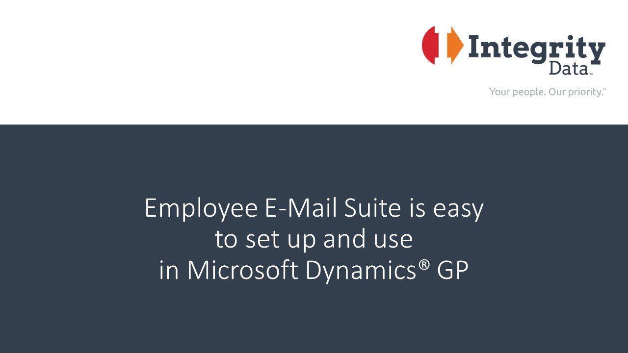 Employee e mail suite for microsoft dynamics gp baditri Gallery